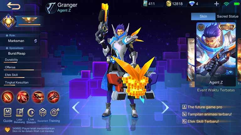 Agent Z Skin Hero Mobile Legends Paling Keren