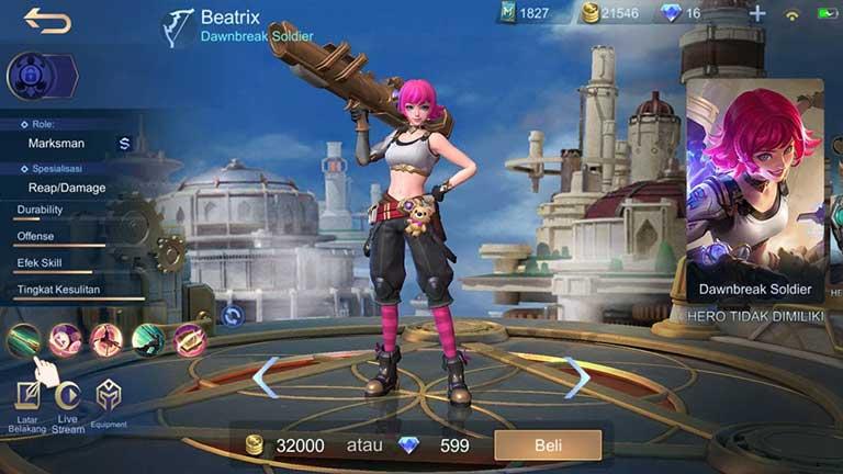 Beatrix Hero Tersulit Di Mobile Legends