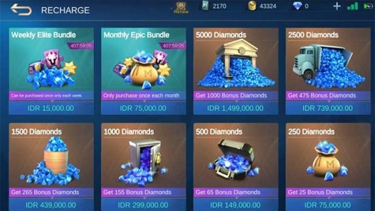 Beli Pulsa Berhadiah Diamond Cara Mendapatkan Diamond Mobile Legends Gratis