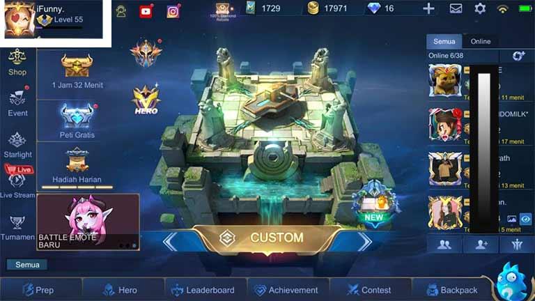Buka Profil Mobile Legends