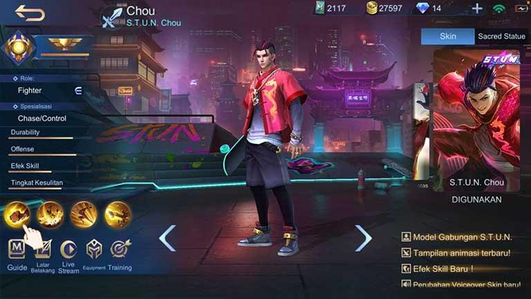 Chou 1 Arti Offlaner Mobile Legends