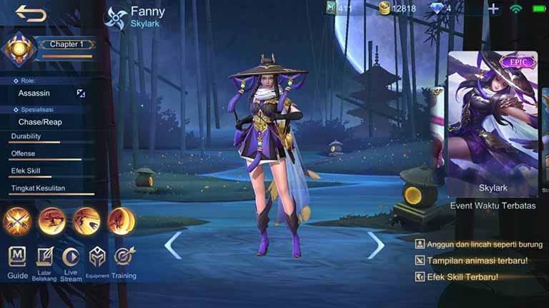Fanny Skylark Skin Hero Mobile Legends Paling Keren