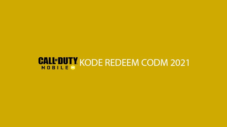 Kode Redeem Codm 2021