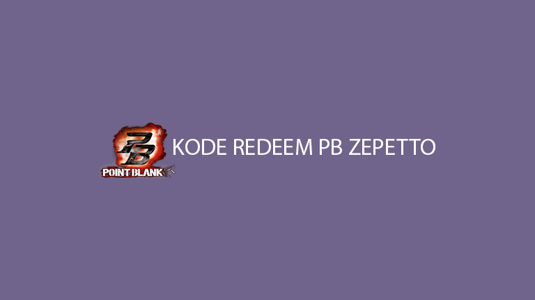 Kode Redeem Pb Zepetto
