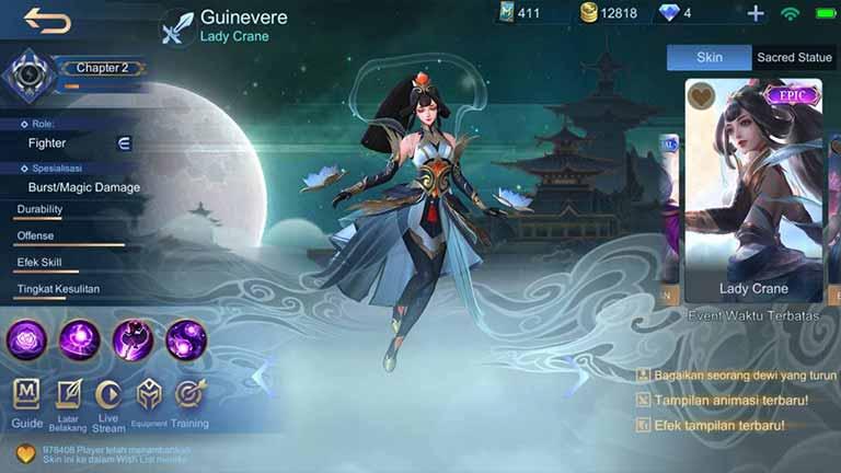 Lady Crane Skin Hero Mobile Legends Paling Keren