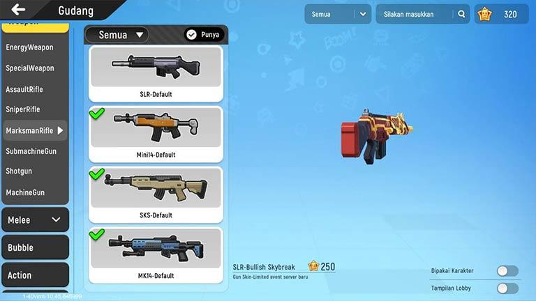 Marksman Rifle Daftar Lengkap Senjata Sausage Man