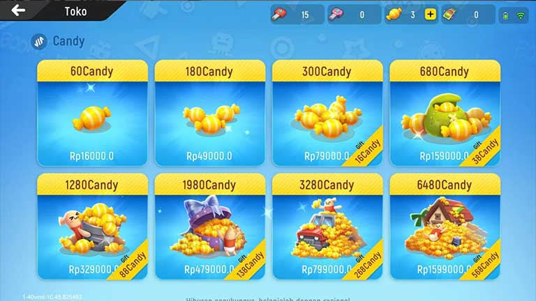 Pilh Candy yang akan Di beli Cara Mendapatkan Action Emote Sausage Man Gratis