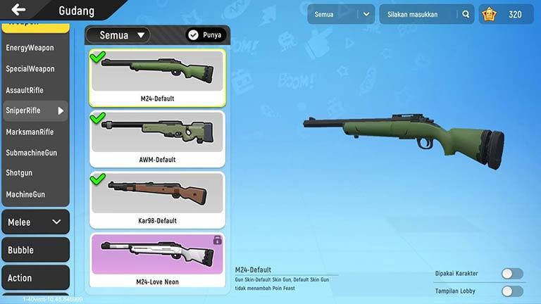 Sniper Daftar Lengkap Senjata Sausage Man