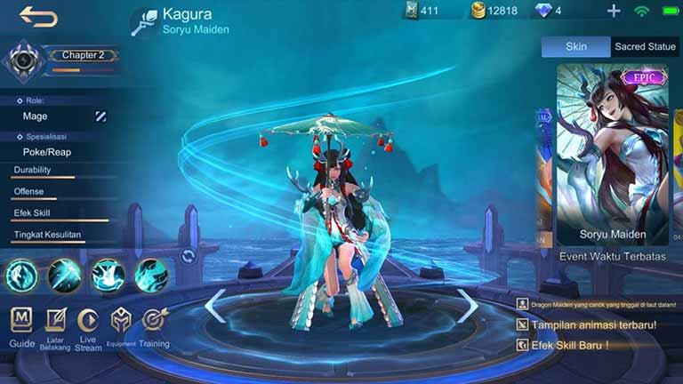 Soryu Maiden Skin Hero Mobile Legends Paling Keren
