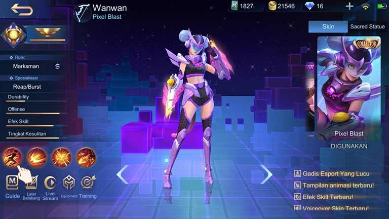 Wanwan Hero Tersulit Di Mobile Legends