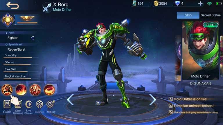 X Borg 1 Hero Terkuat Di Mobile Legends