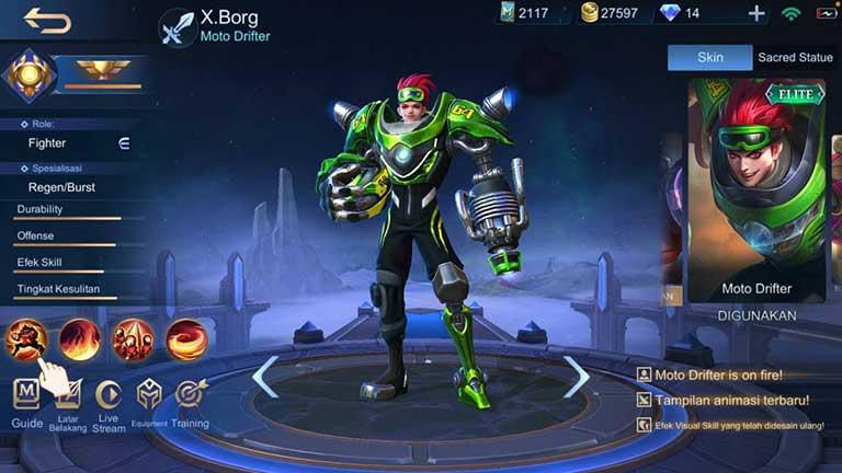 X Brog Arti Offlaner Mobile Legends