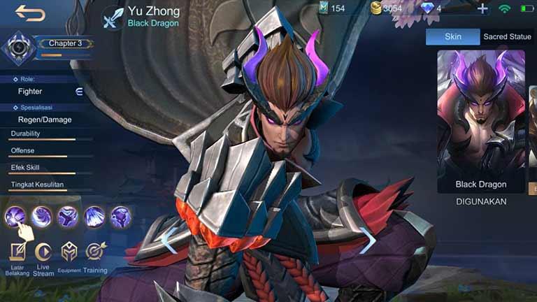 Yu Zhong 2 Hero Terkuat Di Mobile Legends