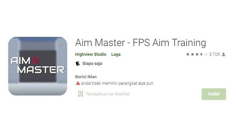 Aplikasi Aim Master Fps Aim Training