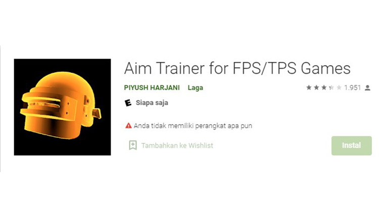 Aplikasi Aim Trainer For Fps Tps Games