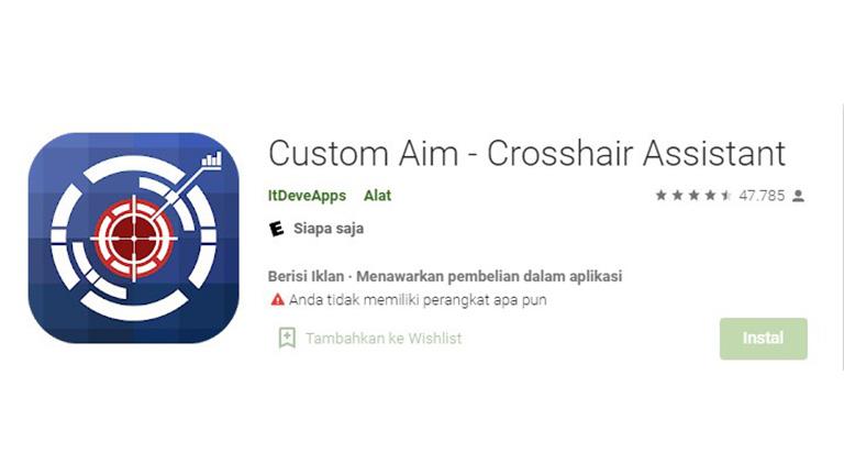 Aplikasi Custom Aim Crosshair Assistant