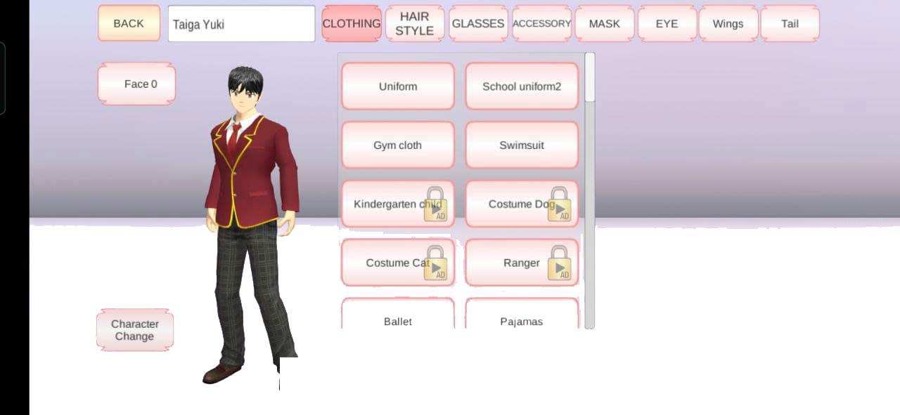 Change Karakter 3 Cara Bermain Sakura School Simulator