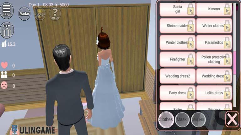 Ganti Dress Cara Menikah di Sakura School Simulator
