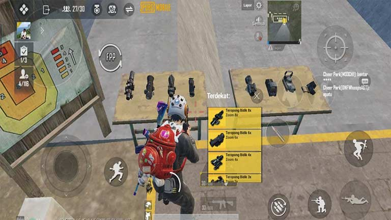 Gunakan Scope Cara Lock Musuh Di PUBG Mobile