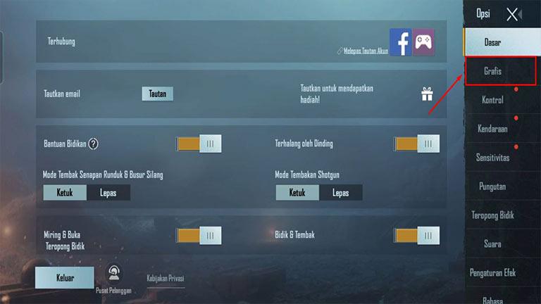 Masuk menu Grafik