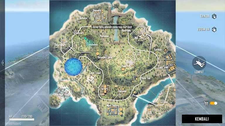 Lokasi Map Free Fire