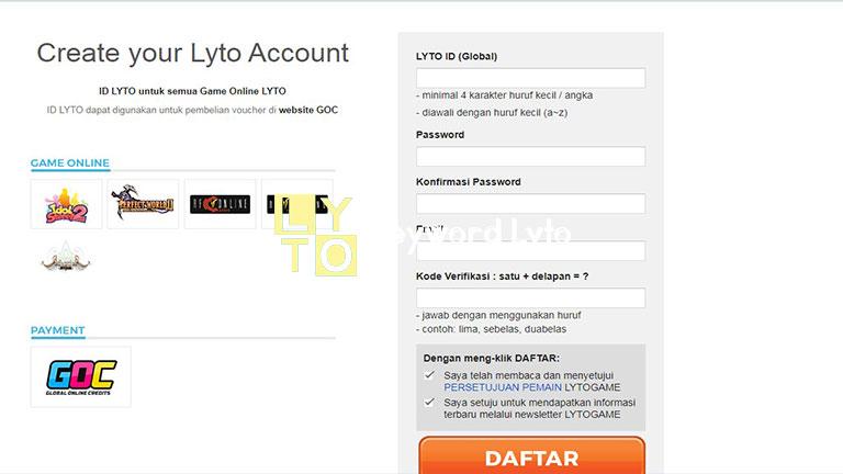 Mendaftar Akun Lyto