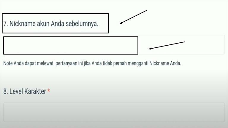 Nickname Sebelumnya
