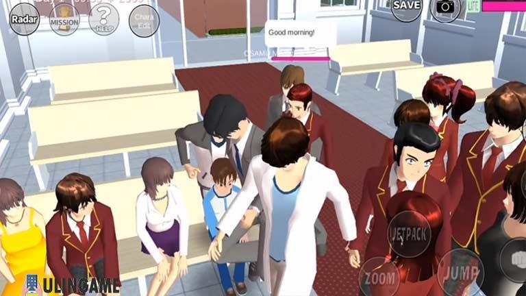 Tamu Undangan Cara Menikah di Sakura School Simulator