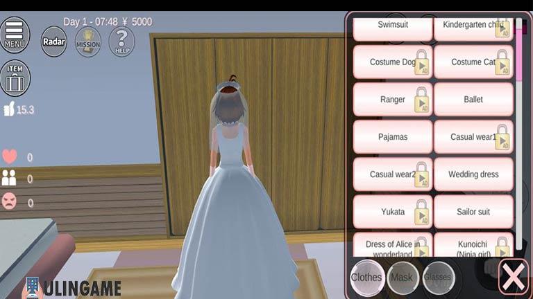 Wedding Dress Cara Menikah di Sakura School Simulator